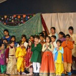 Students and teachers of Wellington Hindi School at the annual event. Principal and Director Sunita Narayan is at the far left (back row)