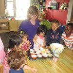 Sunrise opens new horizons- Highland Park Centre Teacher with children