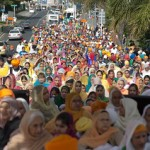 A sea of women at Nanaksar Thath Isher Darbar, Manurewa, Auckland
