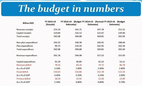 Budget sheet nz