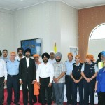 K S Bakshi (front row, fifth from left) with leaders of the community and officers of Counties Manukau Police at the Dasmesh Darbar Gurdwara, Kolmar Road, Papatoetoe, Auckland