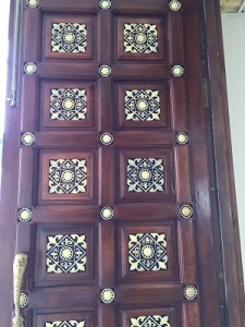 Marble carvings embellish- A Carved Door inside the Temple