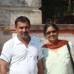 Sorrow overhadows joy-Janifa Khan Janif with her husband at Kolkata Port