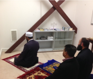 For Web Edition-Interfaith Prayer Room at Police College- Muslims praying