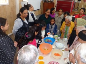 Hope enters Shanti Niwas- Demonstration of healthy cooking
