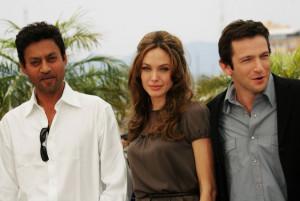 Indian star creates- Irrfan Khan with Angelina Jolie and Dan Futterman