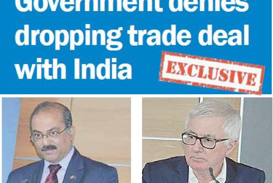 Government denies dropping trade deal with India
