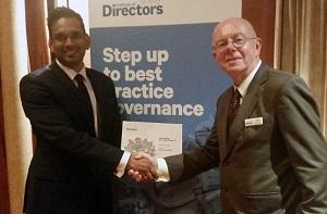 Future talent in boardroom- Sunil Surujpal with David Frow Web