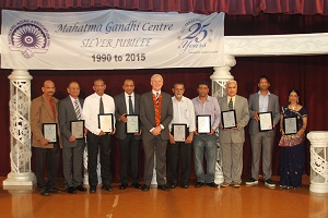 Mahatma Gandhi Centre marks-Past Presidents, Secretaries and Treasurers with Phil Goff