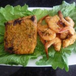 Geet's Kitchen-Asian Style Grilled Salmon and Prawns Web
