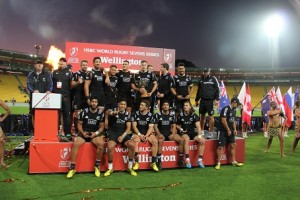Crowning glory-All Blacks Sevens with the Cup Web