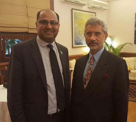 Sunil Kaushal with India's Foreign Secretary Dr S Jaishankar