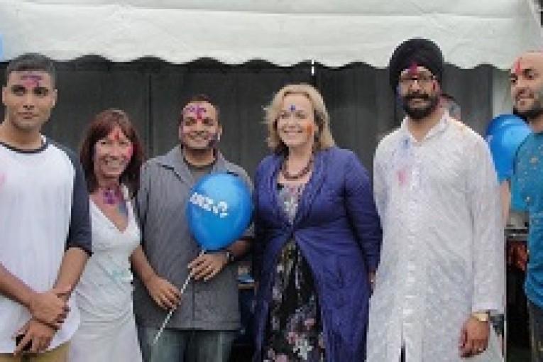 Festival of colours brings- KS Bakshi attending Holi with Judith Collins Web