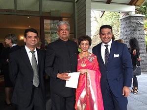 Commuinity celebrates- Rajiv, Shailen, Shefali and Ravi Mehta at Government House, Auckland Web
