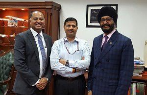 Trade Alliance says Air agreement- Sunil and Bakshi with Ashwani Lohari