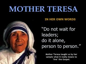 Abandoned child soars- Mother Teresa Quote Web