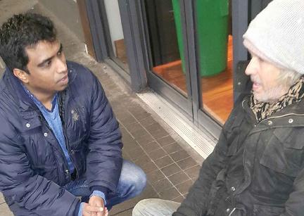 Mother Teresa inspires-Michael Dennis Raj with a recipient Web