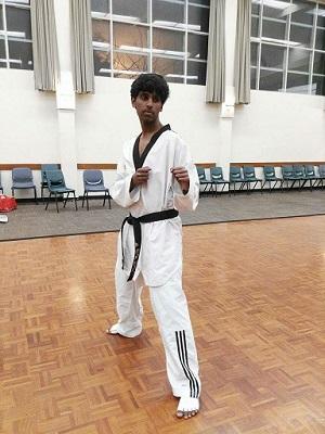 Our young Taekwondo hero- Srikar Masanam Web