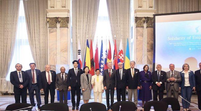 Former leaders push for peace in Korean Peninsula
