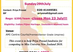 Netball Tournament for Miss Universe New Zealand contestant