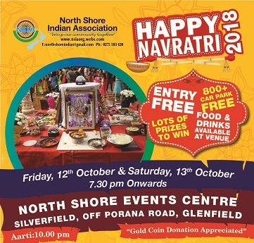 North Shore Indians plan Navaratri Festival next month