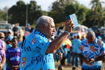 Bainimarama asks Fijians to vote for security, stability