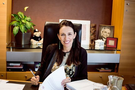 Jacinda Ardern greets New Year Honours recipients