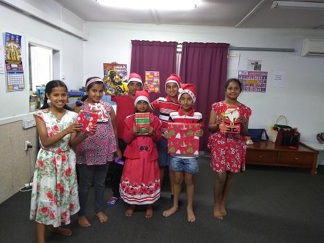 Elders and children get a festive taste at Bhartiya Samaj