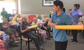 Cuisine, exercise and entertainment engage elders