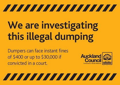 Fines for illegal dumping surges in Auckland