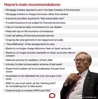 No guarantee Hayne's Report will discipline Australian banks