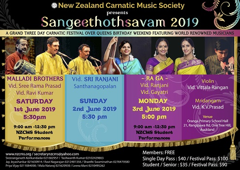 Expect heavy downpour of Carnatic Music in Auckland