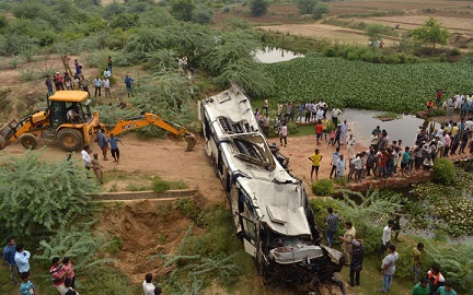 Bus crash kills 29 in North India
