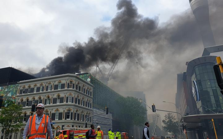 Major fire rages in SkyCity Convention Centre building site