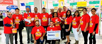 Papatoetoe Rotary collects $3000 for Polio Eradication Programme
