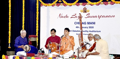 Double Carnatic Music debut for youngster in Chennai