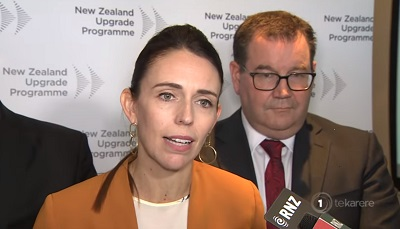 Jacinda Ardern announcing the $12 billion infrastructure project