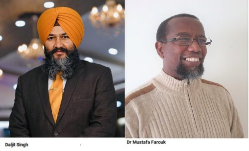 Sikhs and Muslim communities donate food for the needy