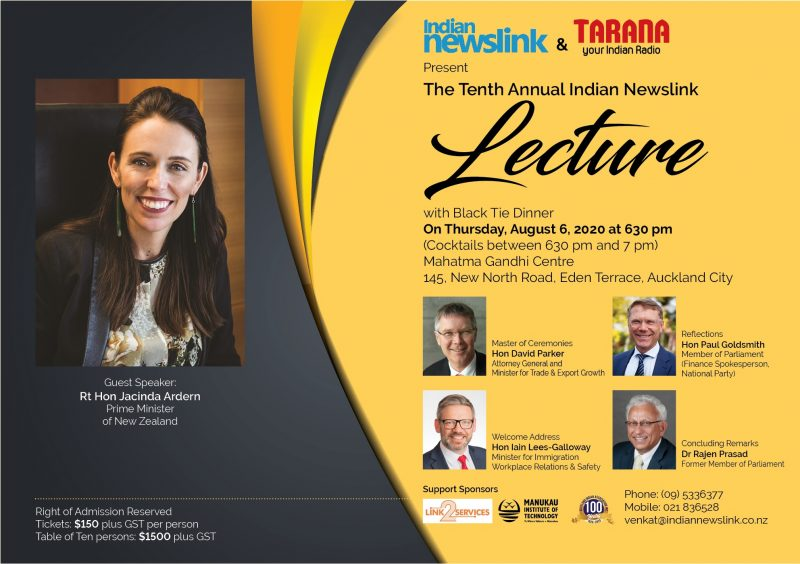 An Opportunity to meet and question Prime Minister Jacinda Ardern