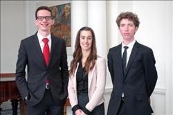 Three graduates receive Rhodes Scholarship