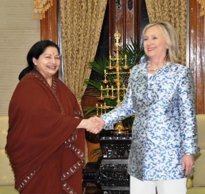 Hillary concludes strategic visit to India
